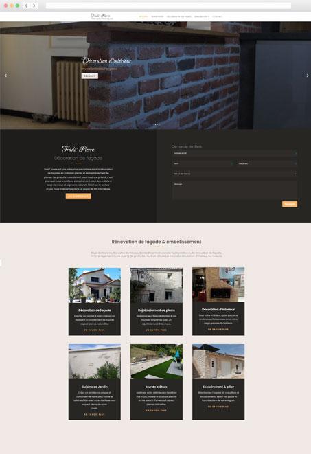 Création de site internet Facade TradiPierre