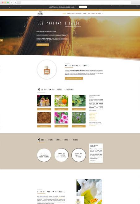 Création de site internet Parfums d'Uzège